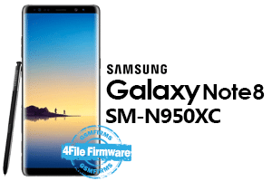 samsung note8 n950xc 4file firmware