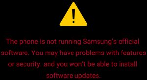 Samsung bootloader unlocked logo fix