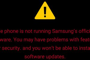 samsung bootloader unlocked warning